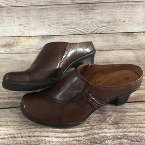 Earth Spirit Emma Classic Mules Leather Size 9